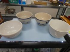 """4 BOWLS 5"""" -MEDALTA, ALFRED MEAKIN & 2 NOT MARKED"""