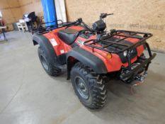 2002 SUZUKI KING QUAD 4X4 ATV, W/ WINCH, IND. REAR SUSP., 449.9 KM'S SHOWING - GREAT CONDITION!