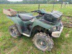 2007 KAWASAKI BRUTE FORCE 750 ATV 4X4 AUTO 1761 KM'S SHOWING, W/ WINCH, POLY ATV BOX, SPARE BELT,