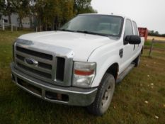 2007 FORD F350 XLT 4X4 V8 P/U TRUCK, A/T, CREW CAB, 8FT BOX (DAMAGED), 362,299 KM'S SHOWING