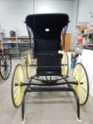 FRESH RESTORATION OF DOCTOR'S BUGGY W/SHALVES, RUBBER TIRES, DONE BY JIM TRONNES