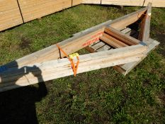 L/O 6-12FT ENGINEERED TRUSSES
