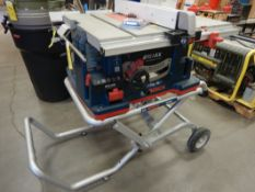 BOSCH REAXX PORTABLE TABLE SAW W/ FLESH DETECTION SYSTEM & WORK STAND