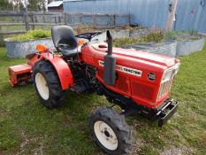YANMAR YM186D 18 HP 4X4 COMPACT TRACTOR W/3 PT, 74 HRS SHOWING (ROTOTILLER SOLD SEPERATELY)