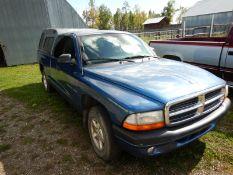 2002 DODGE DAKOTA SPORT CLUB CAB PU TRUCK AT/V6/A/C/6 FT BOX REG CAB, 253630 KM SHOWING