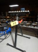 TELESCOPING INFEED ROLLER STAND, HALOGEN TELESCOPING WORK LIGHT, LIGHT STAND