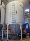 WHEATLAND M/N 1412EL SMOOTHWALL LIQUID HOPPER BIN, 18,449 GAL./2,084 BUSHEL, EPOXY LINED, W/ LADDER,