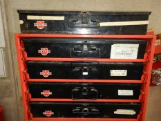 WURTH 4-DRAWER ASSORTMENT CABINET W/ 5 TRAYS, BOLTS, GREASE NIPPLES, COTTER PINS, ETC.