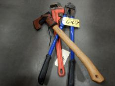 RIDGID 24IN STEEL PIPE WRENCH, 24IN BOLT CUTTERS, CONDOR AXE