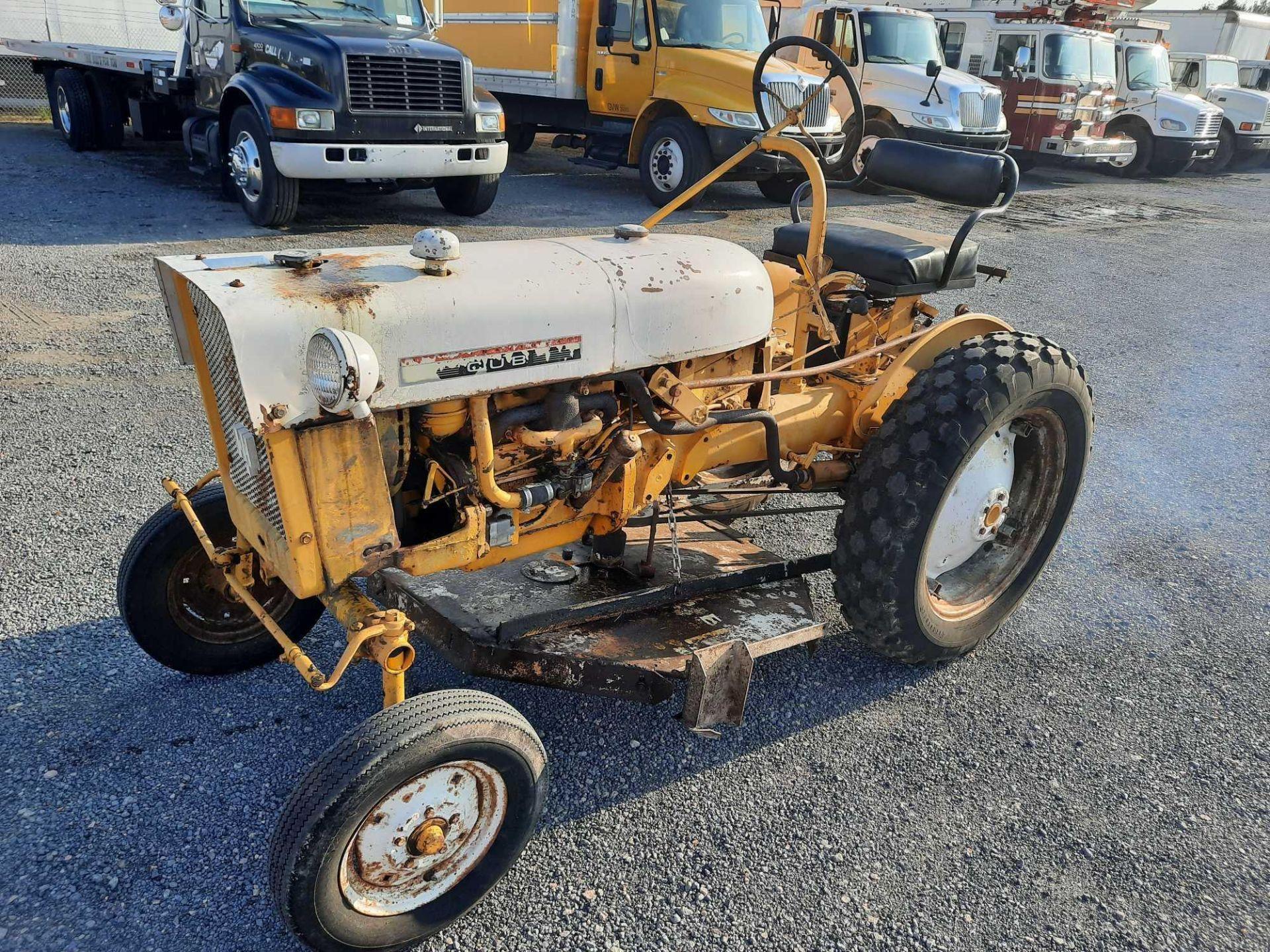 INTERNATIONAL CUB FARM TRACTOR W/ MOWER DECK ATTACHMENT - Image 2 of 4
