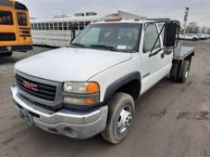 2007 GMC 3500 DUALLY FLATBED PICKUP TRUCK