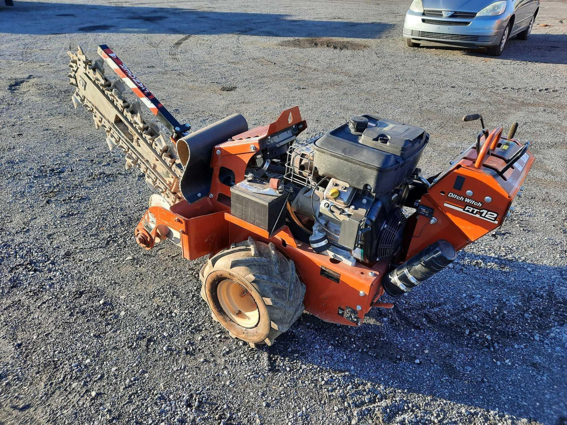 2012 DITCH WITCH RT12 WALK BEHIND TRENCHER - Image 4 of 11