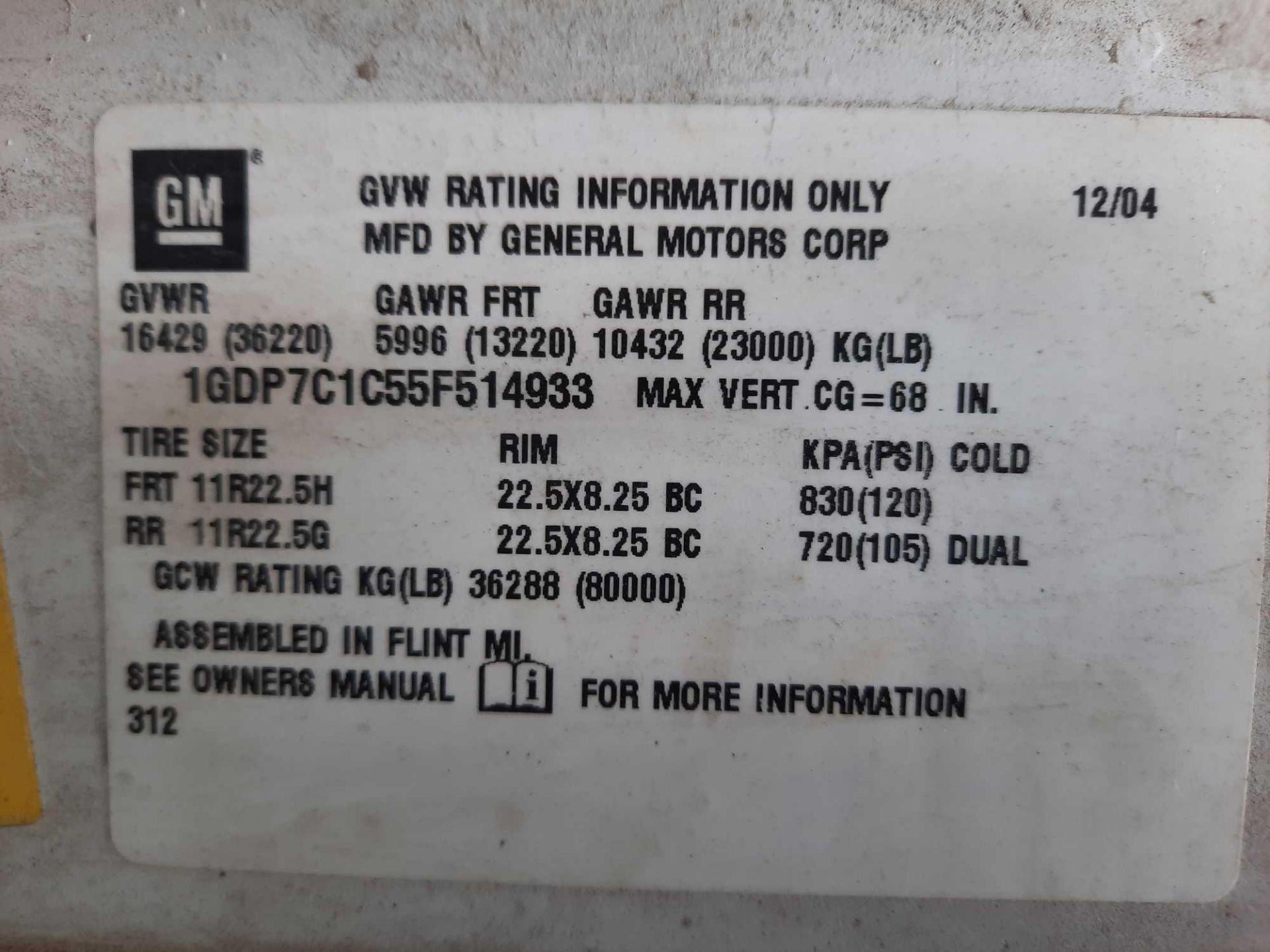 2005 GMC 7500 10' DUMP TRUCK (VDOT UNIT #: R07219) - Image 5 of 16