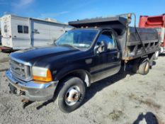 2001 FORD F350 XL SUPER DUTY S/A 11' DUMP BODY TRUCK W/SNOWPLOW (INOPERABLE)