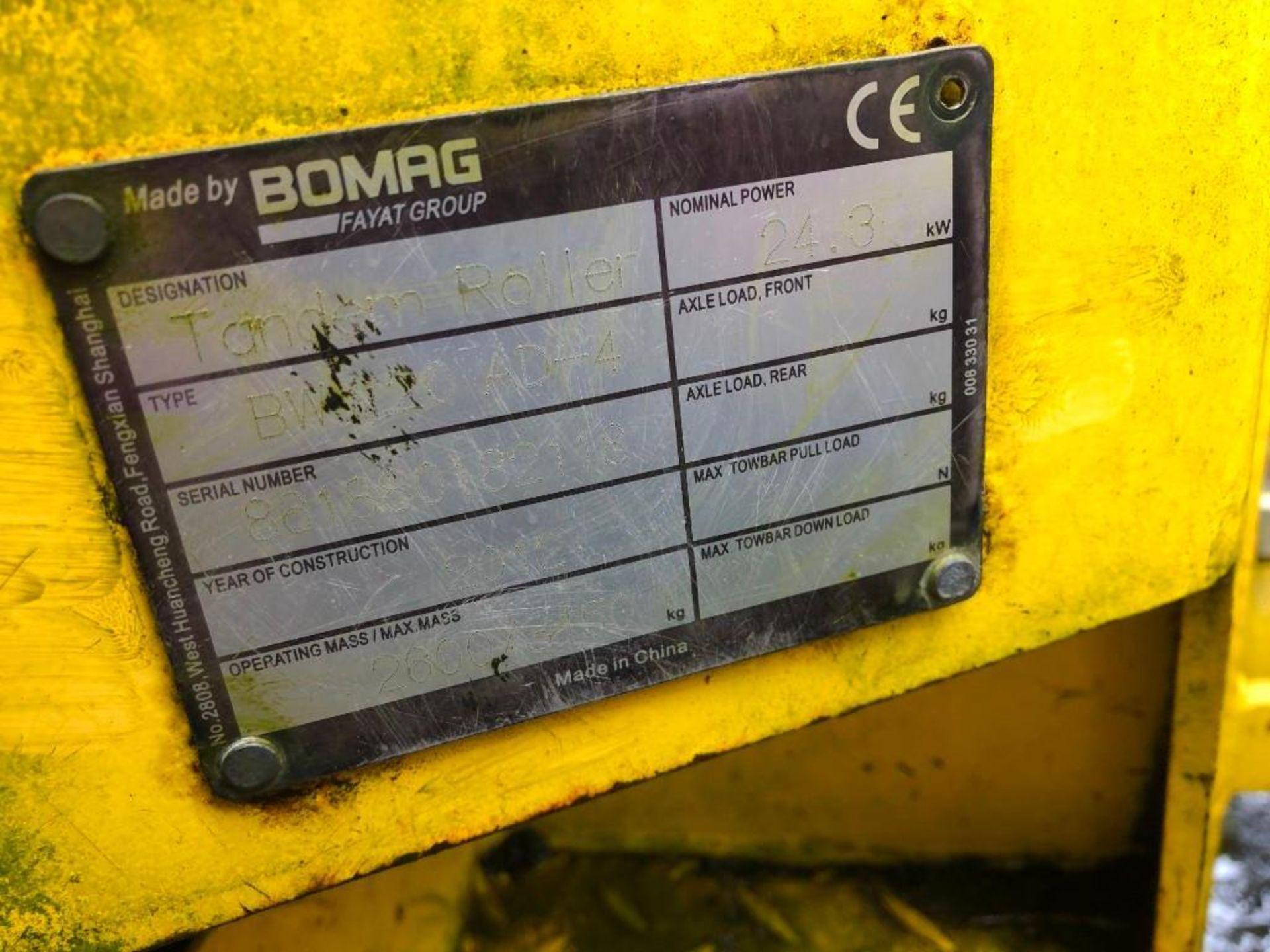 2012 BOMAG BW120 AD-1 TANDEM VIBRATORY ROLLER (UNIT #JB-218) - Image 3 of 4