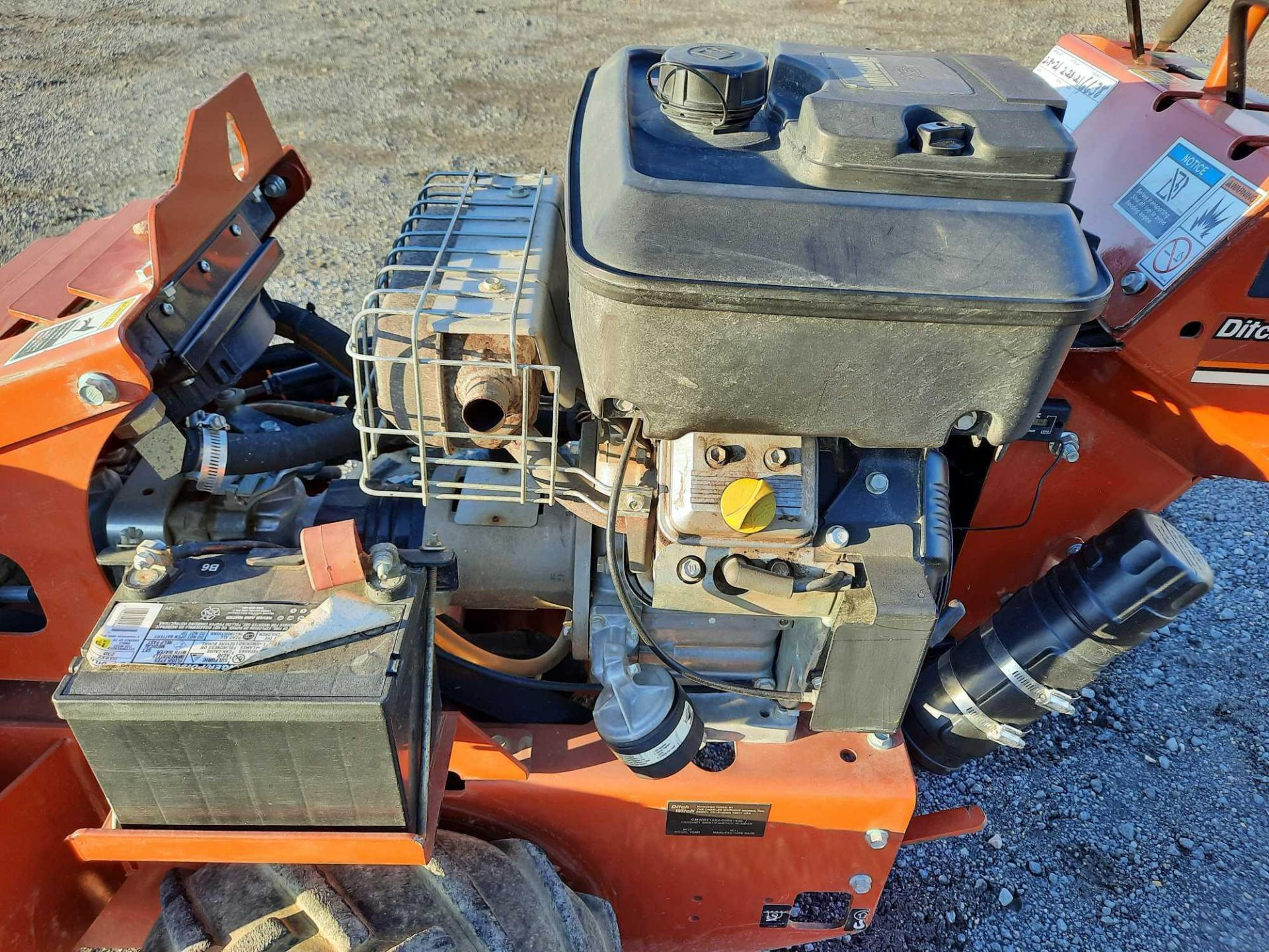2012 DITCH WITCH RT12 WALK BEHIND TRENCHER - Image 8 of 11