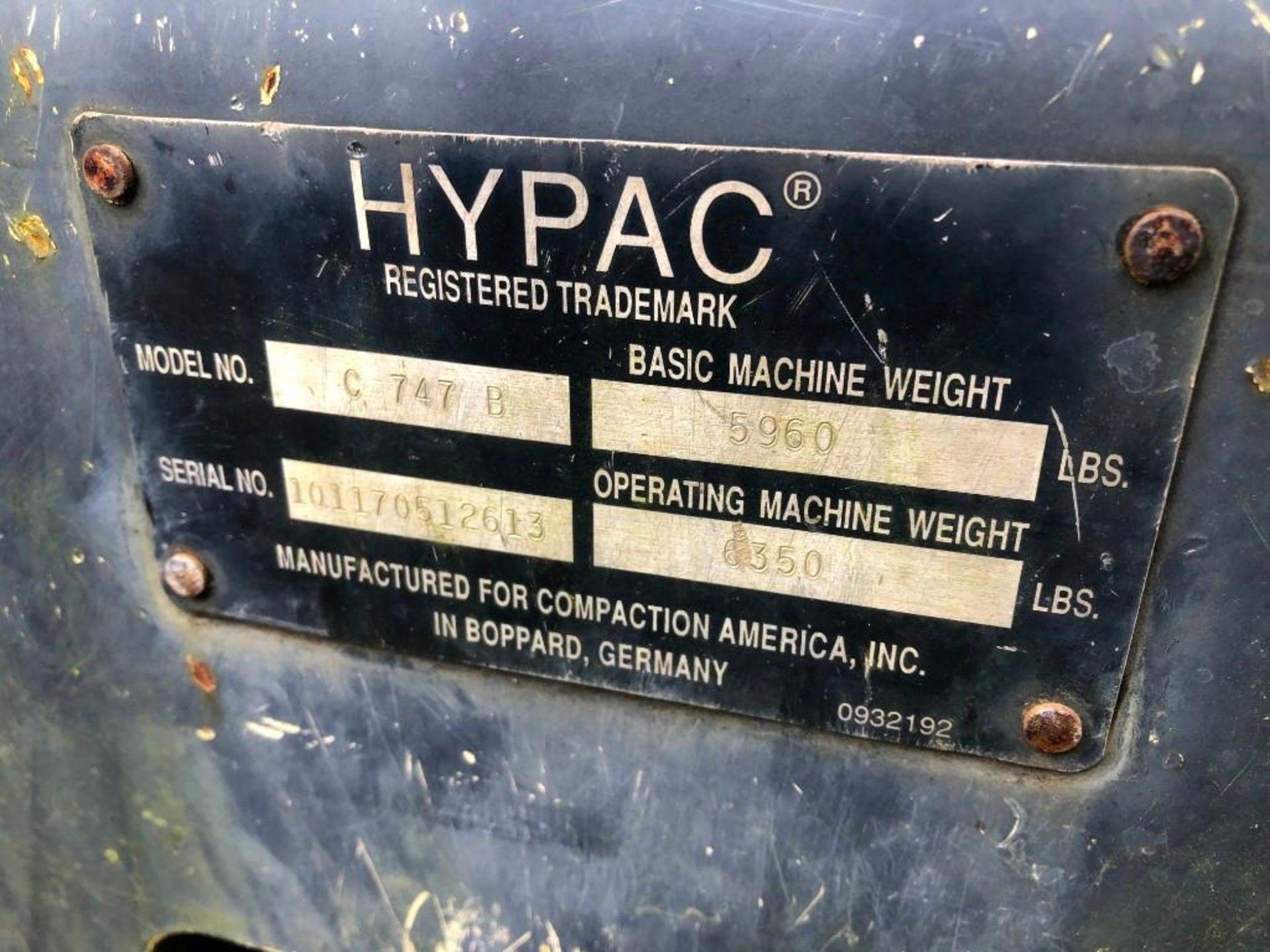 HYPAC C747B TANDEM VIBRATORY ROLLER (UNIT #JB-203) - Image 3 of 4