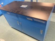 Two AMS Rolling Cabinet Carts