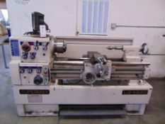 SUPERMAX LG-1640 MACHINE LATHE SN 33511-028, W/ NEWALL DP7 DRO, MODEL LP711000