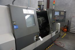 2012 SAMSUNG TOOLS SL25 BMC/1000 CNC LATHE, S/N12A680065, WITH CHIP CONVEYOR SM02003A,