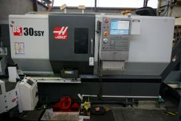 2015 HAAS DS-30SSY CNC TURNING CENTER, S/N 3102588, WITH ROYAL QUICK CHANGE COLLET SYSTEM,