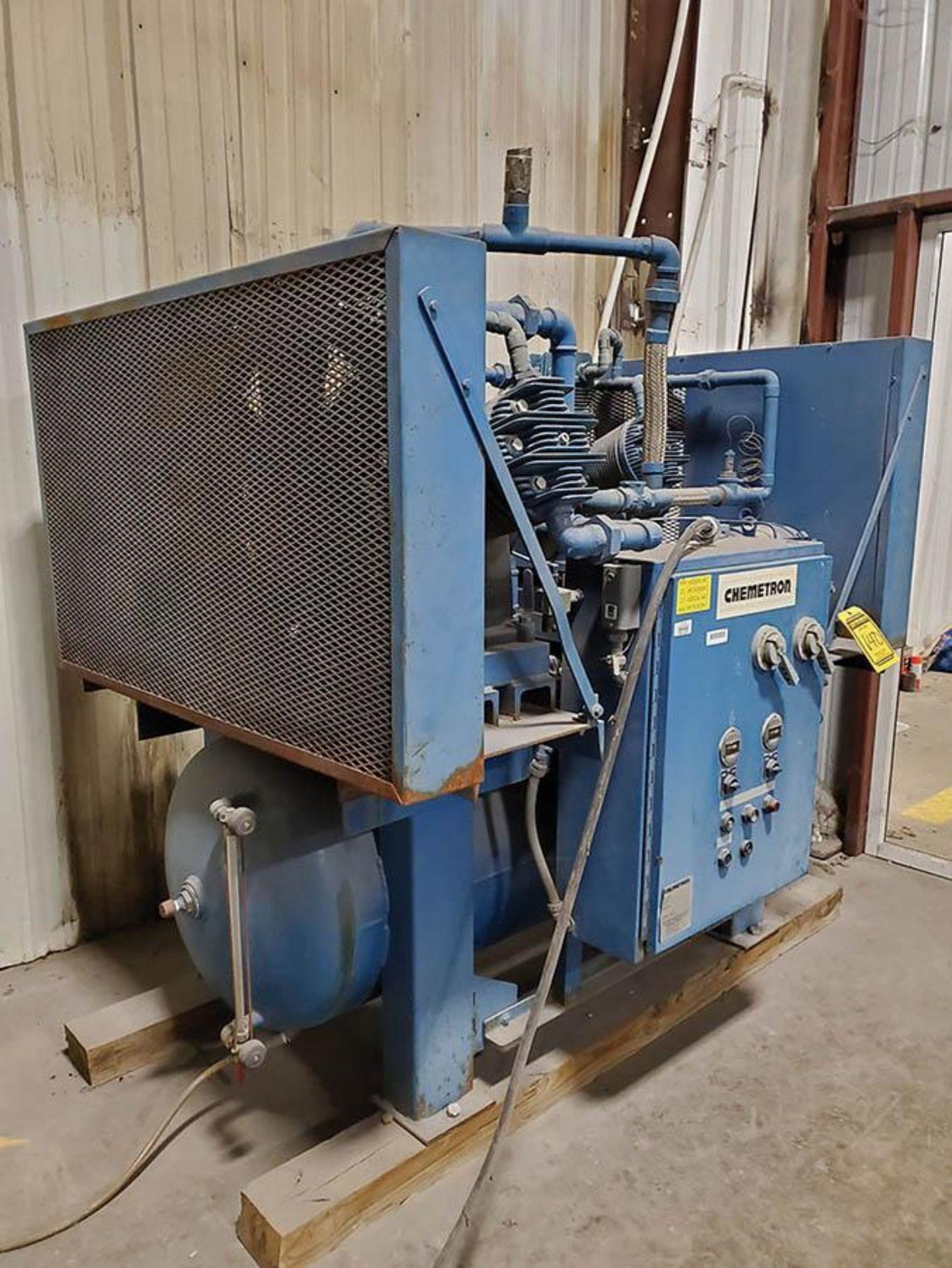 CHEMETRON MEDICAL AIR COMPRESSOR, MODEL 2KT40-10, 10 HP, 6 CYLINDER - Image 2 of 8