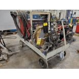 LINCOLN IDEALARC DC-600 WITH DC LINCOLN LINCOLNWELD SOLID STATE LT-TRACTOR FLUX WELDER, MULTI-PROCES