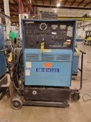SYNCROWAVE 3000 AC/DC GAS TUNGSTEN ARC OR SHIELDED METAL ARC WELDER, COOLMATE 12 CHILLER ON BOTTLE C