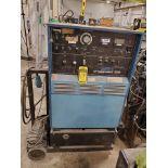 SYNCROWAVE 3000 AC/DC GAS TUNGSTEN ARC OR SHIELDED METAL ARC WELDER, COOLMATE 12 CHILLER ON BOTTLE C