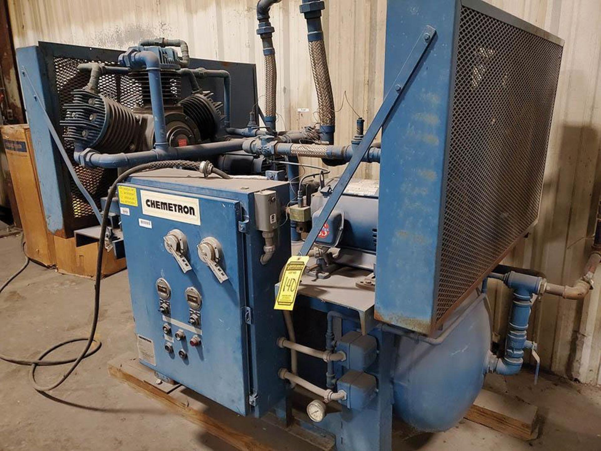 CHEMETRON MEDICAL AIR COMPRESSOR, MODEL 2KT40-10, 10 HP, 6 CYLINDER - Image 8 of 8