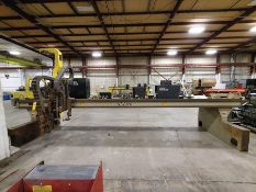 2007 ALLTRA CUTTING TABLE BRIDGE TRACK, MODEL BG-14-16, LINCOLN BURNY 10LCD PLUS DRO, 245'' BRIDGE,