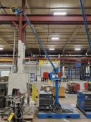 MILLER DELTAWELD 452 CV-DC WELDER ON STEEL PORTABLE BOOM PLATFORM WITH MILLER70 SERIES 24V WIRE FEED