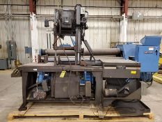 HEM SAW AUTOMATIC VERTICAL BANDSAW, MODEL V100-LM3, 5 HP, 220/440V, 1 1/4'' X 15' X 042'' BLADE, 18'
