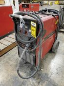 LINCOLN POWERMIG 255 WELDER ON BOTTLE CART
