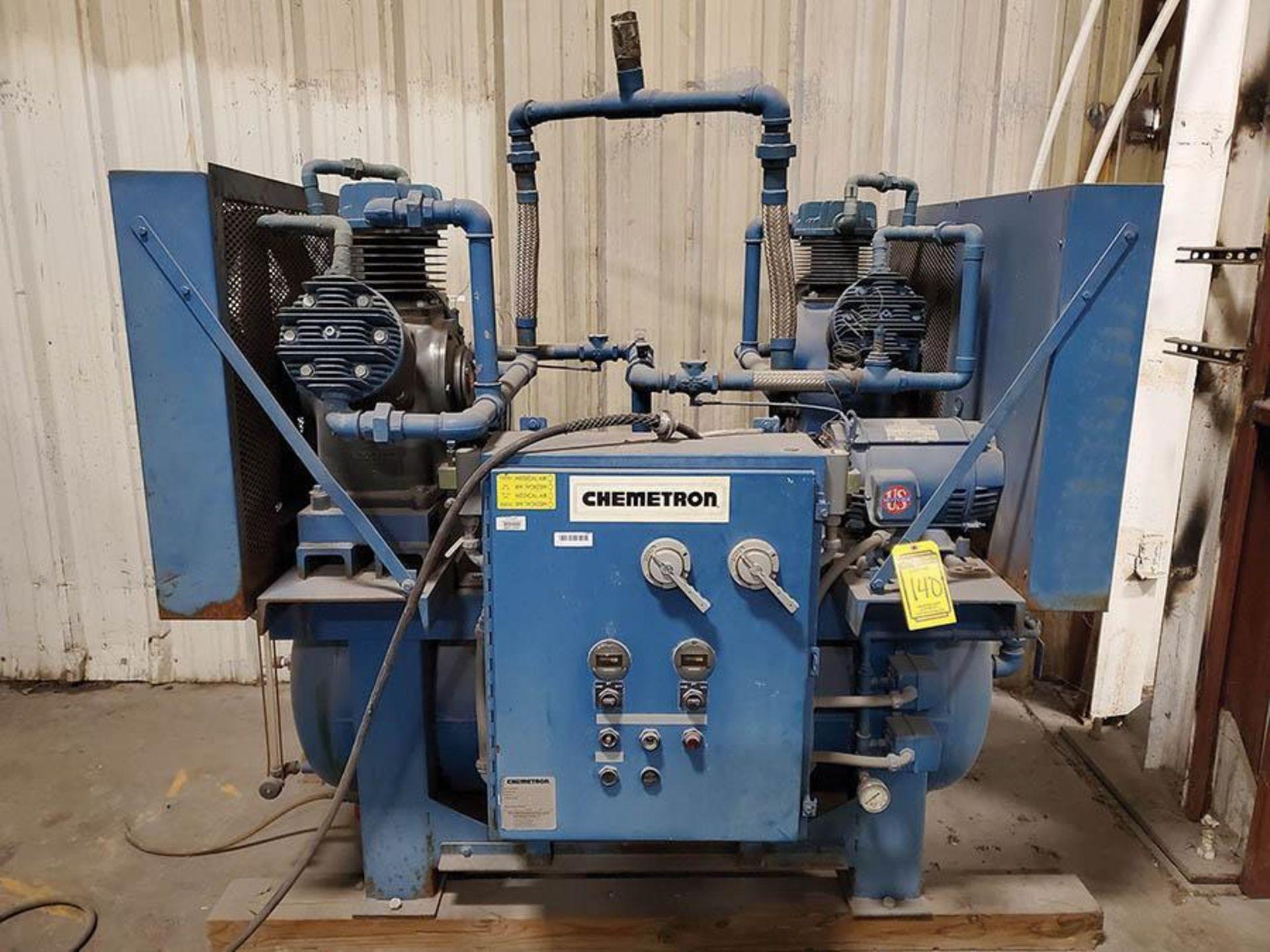 CHEMETRON MEDICAL AIR COMPRESSOR, MODEL 2KT40-10, 10 HP, 6 CYLINDER
