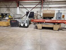WEIDEMAN ROTARY CNC PLASMA CUTTER/PUNCH, MODEL M5000 P48-299, S/N MWA596, HYPERTHERM HYSPEED HT2000