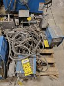 (4) MILLER 60 SERIES WIRE FEEDERS WITH REELS AND LEAD WIRE AND GROUNDS