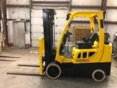 2016 HYSTER 6,000-LB., MODEL: S60FT, S/N: H187V05490P, LPG, LEVER SHIFT TRANSMISSION, SOLID NON-MARK