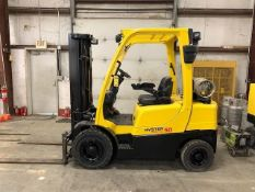 2006 HYSTER 5,000 LB., MODEL H50FT, S/N L177B15345E, LPG, MONOTROL TRANSMISSION, PNEUMATIC TIRES, 18