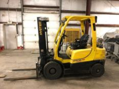 2015 HYSTER 5,000-LB., MODEL: S50FT, S/N: P177V01826N, LPG, LEVER SHIFT TRANSMISSION, PNEUMATIC TIRE