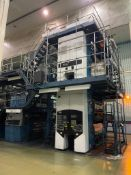 TKS M-72 11-UNIT OFFSET PRINTING PRESS W/TOP COLOR 6000 - SOME COMPONENTS REMOVED