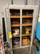 CABINET AND CONTENTS OF ASSORTED PRINTING PARTS