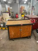 (3) MECHANICS CARTS, WITH VISE AND STORAGE COMPARTMENTS