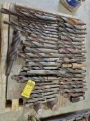 SKID OF ASSORTED LARGE DRILL BITS