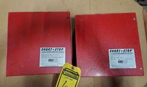 (2) AMBITECH SHORT STOP ELECTRONIC MOTOR BRAKE; MODEL SSA-4A-10W, 460-V, 3-PHASE, 10-HP, 60-HZ