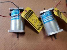 (2) MET PERMANENT MAGNET DC MOTOR; MODEL 3B-A015222C, (2) POWER MOTION DIGITAL TAK 256 KIT