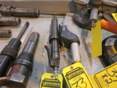 (2) PNEUMATIC TOOLS, MASTER POWER NEEDLE SCALER AND DYNABRADE FILE