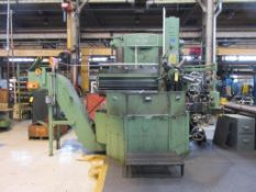 BULLARD CUT MASTER 42 IN. VERTICAL TURNING LATHE, 5-STATION TURRET, OUTFEED CHIP CONVEYOR, ACU-RITE