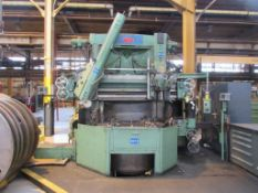 BULLARD CUTMASTER 64 IN. VERTICAL TURNING LATHE, 5-STATION AND SINGLE HEAD TURRET, DUAL ACU-RITE D.R