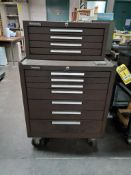KENNEDY 7-DRAWER ROLLING TOOL CABINET WITH 4-DRAWER BENCH TOP TOOL CABINET